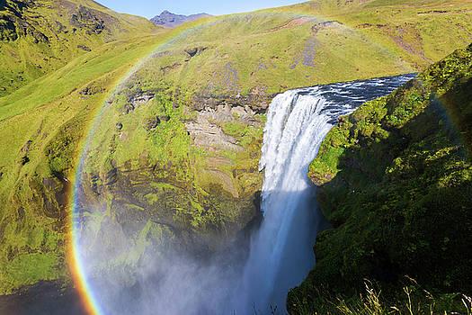 Francesco Riccardo Iacomino - Skogafoss in rainbow, Iceland