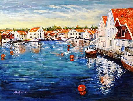 Skudeneshavn Norway by Carol Allen Anfinsen