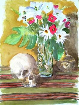Skull and Flowers by Thom Duffy