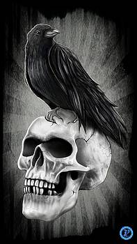 Skull and Raven by Luis Padilla