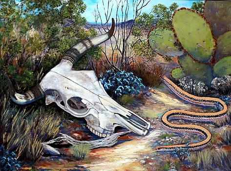 Skull Desert Scene by M Diane Bonaparte