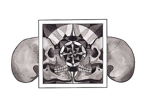 Skull Mandala series Nr 1 by Deadcharming Art