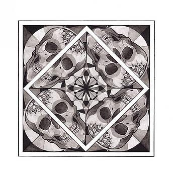Skull Mandala series number two by Deadcharming Art