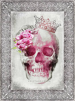 Skull Queen with Roses V2 by Xrista Stavrou