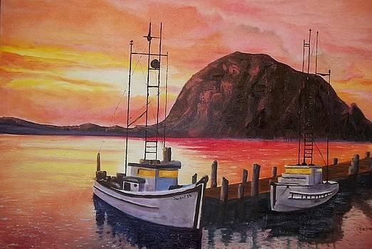 Sky at Morro Bay by Terry Godinez