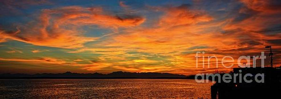 Sky fire 3 by Frank Larkin