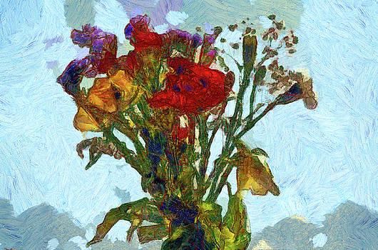 Sky Flowers 1 in paint by Gavin Bates