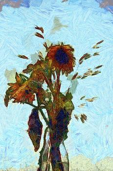 Sky Flowers 2 in paint by Gavin Bates