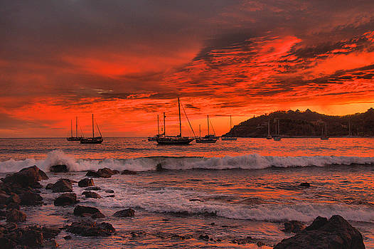 Sky on Fire by Jim Walls PhotoArtist