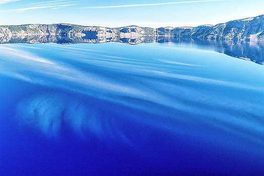 Sky Reflection in Crater Lake by Frank Wilson