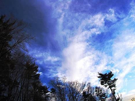 Sky Study 4 3/11/16 by Melissa Stoudt