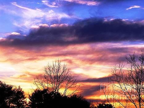 Sky Study 8 3/11/16 by Melissa Stoudt