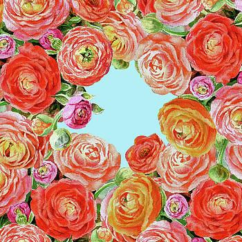 Irina Sztukowski - Sky Through Rununculus Flowers
