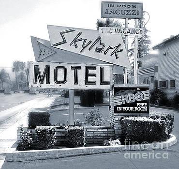 Gregory Dyer - Skylark Motel Vintage Sign in Black and White