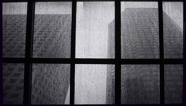 TONY GRIDER - Skylight During Rain Monolith Duo - BW