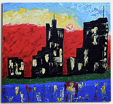 Skyline Abstract by Janos Greka