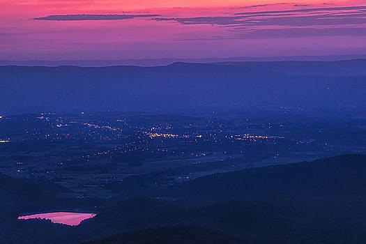 Skyline Drive Sunset by Andrew Soundarajan