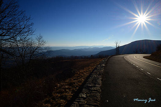 Skyline Drive Va At Dusk In Winter - 1 by Manny Jose