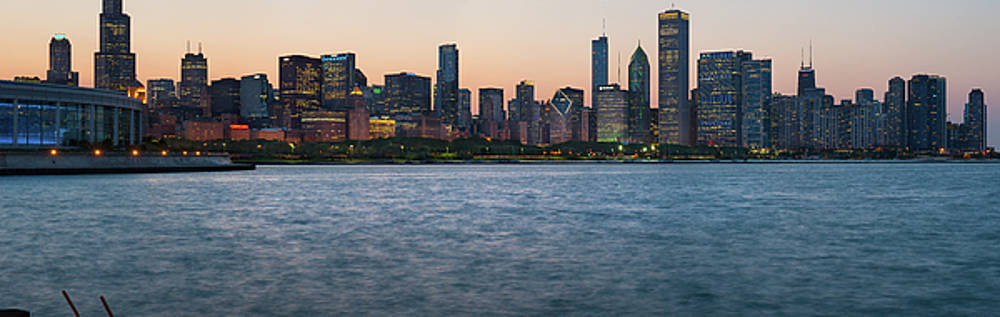 Skyline Evening Pano 2 by Kevin Eatinger