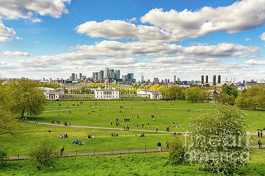 Skyline from Greenwich by Angela Doelling AD DESIGN Photo and PhotoArt