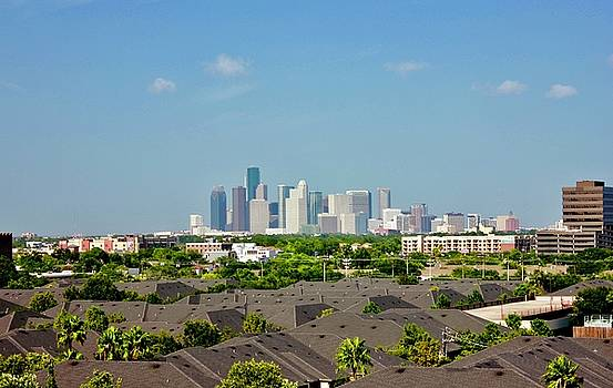 Skyline Houston by Lorna Maza