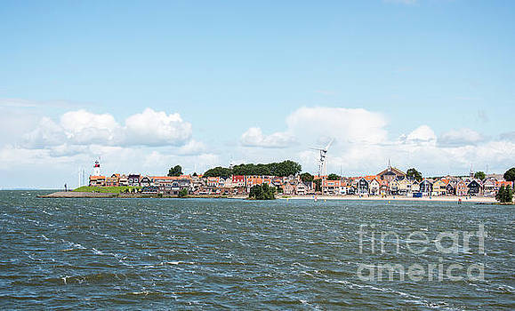 Compuinfoto - skyline of fishing village urk in Holland