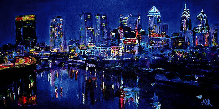 Skyline of Philadelphia by Art by Kar