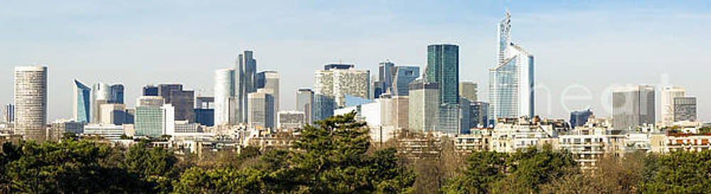 Skyline with Skyscrapers of La Defense business, financial, district of the Paris, France. by Perry Van Munster