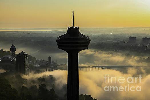 Skylon Tower morning in Niagara Falls, Ontario, Canada by Miro Vrlik