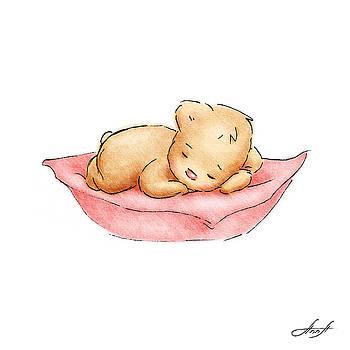 Sleeping Baby Bear by Anna Abramska