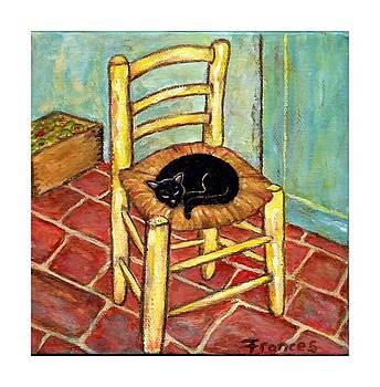 Sleeping cat on Van Goghs chair by Frances Gillotti