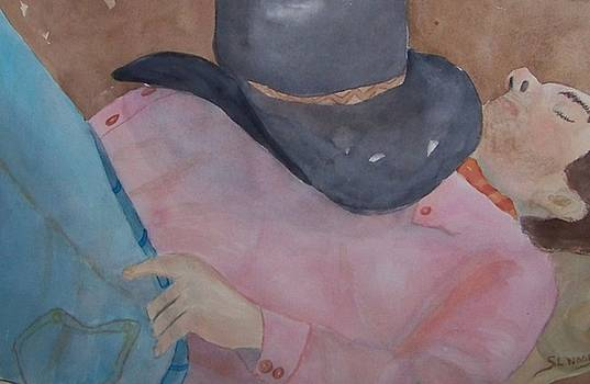 Sleeping Cowboy by Sandra Woods