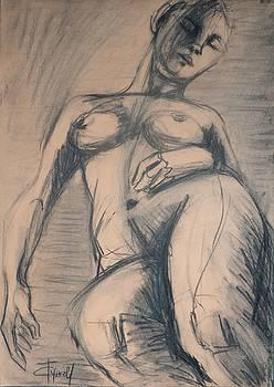 Sleeping - Female Nude by Carmen Tyrrell