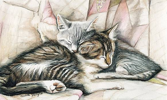 Sleeping Kittens by Charlotte Yealey