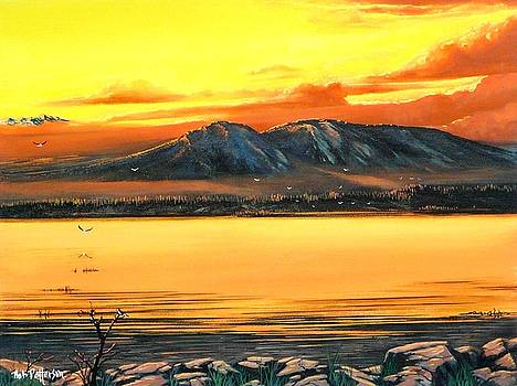 Sleeping Lady Sunset by Bob Patterson