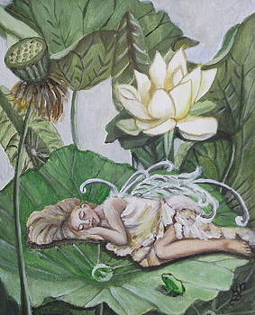 Sleeping Lotus Fairy by Kim Selig