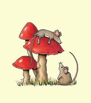 Joyce Geleynse - Sleeping Mouse with Toadstools