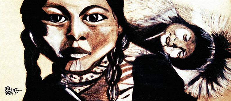 Sleeping Native Papoose  by Ayasha Loya