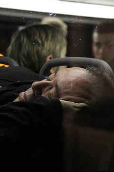 Sleeping on the Bus by Daniel  Walker