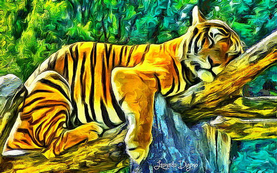 Sleeping Tiger by Leonardo Digenio