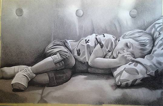 Sleeping Trey by Rhondda Saunders