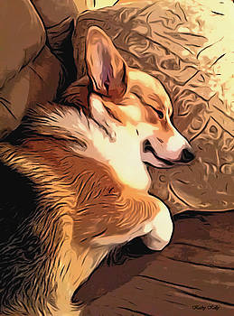 Kathy Kelly - Banjo the Sleeping Welsh Corgi