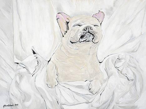 Sleepy Frenchie by Pamela Trueblood