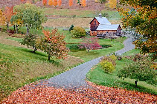 Sleepy Hollow Farm Autumn Vermont by Binh Ly