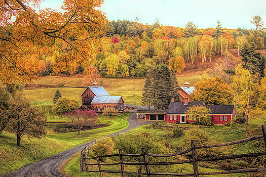 Sleepy Hollow - Pomfret Vermont in autumn by Jeff Folger
