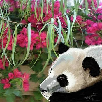 Sleepy Panda by Myssah Lee