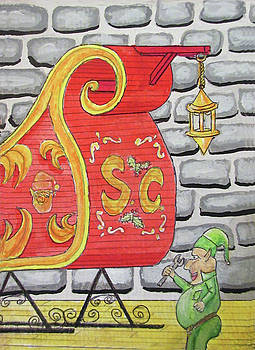Sleigh Keeper Elf by Gordon Wendling