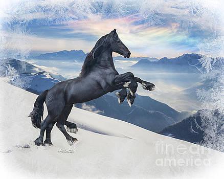 Sleipnir in the Snow by Lori Ann  Thwing