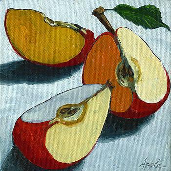 Sliced Apple still life oil painting by Linda Apple