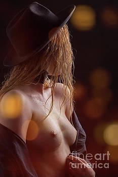 Slim Girl Undressing by Aleksey Tugolukov